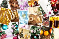 Christmas collage Royalty Free Stock Image
