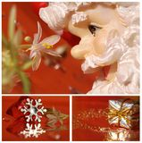 Christmas collage with santa claus, star an Stock Images