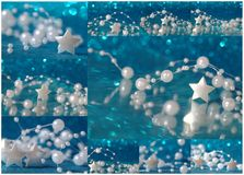 Christmas collage with star Royalty Free Stock Image