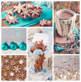 Christmas collage Stock Image
