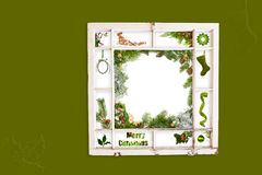 Christmas collage window frame Royalty Free Stock Photo