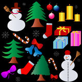 Christmas collection Royalty Free Stock Image