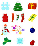 Christmas collection. Set various Christmas illustrations. Vector isolated Royalty Free Stock Images