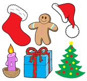 Christmas collection. On white background - vector illustration Stock Photo