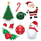 Christmas collection. Isolated on white background Royalty Free Stock Photos