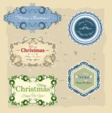 Christmas collection of banners and labels Stock Images