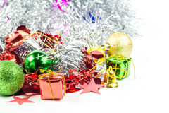 Christmas collection isolated on white Royalty Free Stock Images