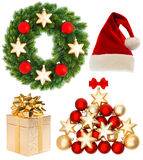 Christmas collection isolated on white background Stock Image