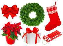Christmas collection isolated on white background Stock Images