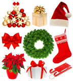 Christmas collection isolated on white background Royalty Free Stock Images