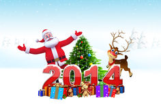 Christmas Collection and New Year Text Royalty Free Stock Images