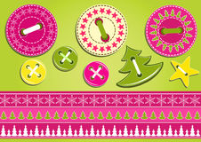 Christmas collection for scrapbook. Stock Image