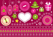 Christmas collection for scrapbook. Royalty Free Stock Photo