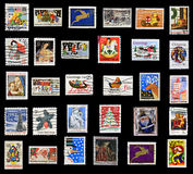 Christmas collection of stamps. Of the United States Royalty Free Stock Photography