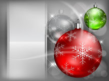 Christmas color baubles with snowflake Royalty Free Stock Images