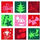 Christmas color icons Stock Photo