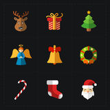 Christmas color icons collection - vector illustration. Stock Images
