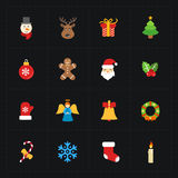 Christmas color icons collection - vector Stock Photos