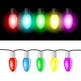 Christmas color light bulbs Royalty Free Stock Photography