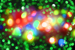 Christmas color lights as holiday background Stock Photography