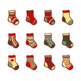 Christmas color socks set. Stock Photography