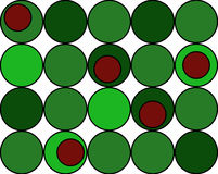 Christmas colored background of circles Stock Photo