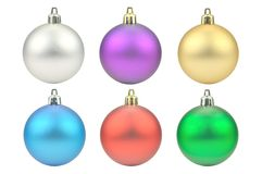 Christmas colored balls. Against white background Royalty Free Stock Photos