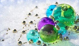 Christmas colored balls Royalty Free Stock Photos