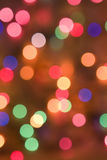 Christmas colored lights background Stock Image