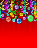 Christmas Colored Ornaments Background Stock Photography