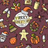 Christmas colored seamless pattern Stock Photo