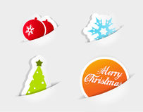 Christmas colored symbols. Stock Photography