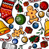Christmas colored toy pattern Royalty Free Stock Photography
