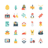 Christmas Colored Vector Icons 3 royalty free illustration