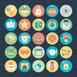 Christmas Colored Vector Icons 4 Royalty Free Stock Photos