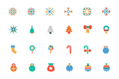 Christmas Colored Vector Icons 1. Christmas is one of the most joyful times of the year. These Christmas icons are perfect to create Christmas related print Stock Photography