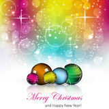 Christmas colorful  background with christmas balls Royalty Free Stock Photography