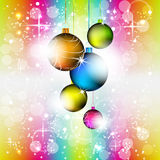 Christmas colorful  background with christmas balls Stock Photography