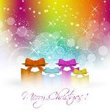 Christmas colorful  background for greeting card Stock Image
