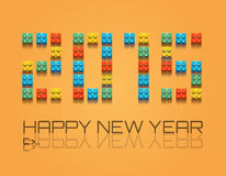 2015 Christmas Colorful Background with plastic blocks. For a retro overall look royalty free illustration
