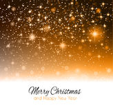 2014 Christmas Colorful Background. With a waterfall of ray lights and a lot of baubles and stars Stock Photo