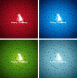 Christmas colorful backgrounds. Christmas colorful vector backgrounds - red, green, blue bright colors Stock Photos