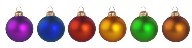 Christmas Colorful Balls Royalty Free Stock Images