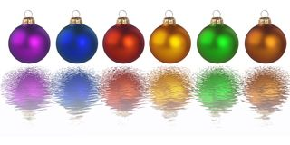 Christmas Colorful Balls Stock Photo