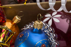 Christmas colorful balls and decoration Royalty Free Stock Photo