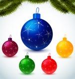Christmas colorful balls Royalty Free Stock Photos