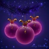 Christmas colorful balls Royalty Free Stock Image