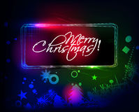 Christmas colorful banner Stock Images