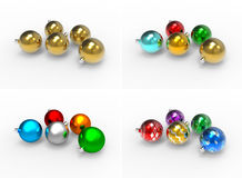 Christmas colorful baubles pack Stock Image