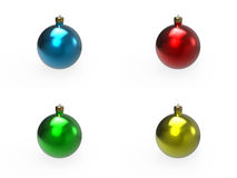 Christmas colorful baubles pack Stock Photos
